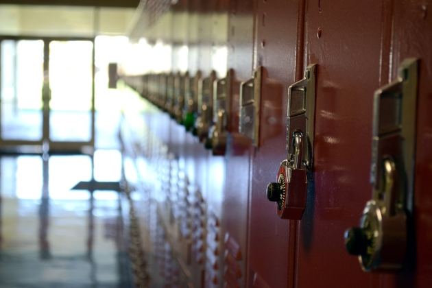 Lockers at school by Brett Levin